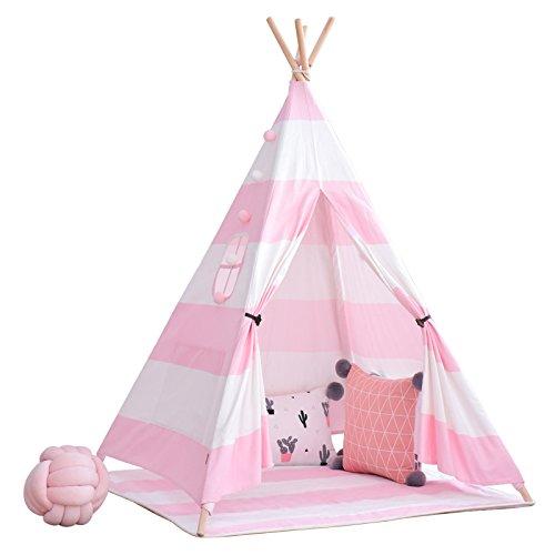 little dove Tipi - Tienda de campaña para niños, algodón, incluye colchón