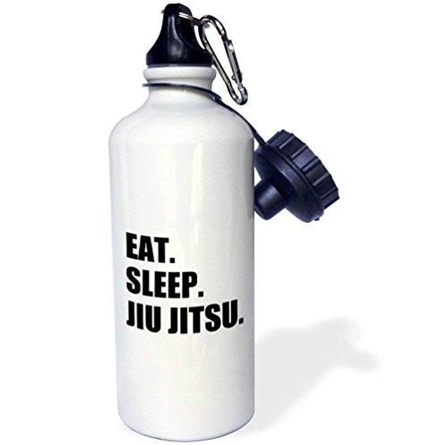 qidushop Eat Sleep Japonais de jiu-Jitsu Arts Martiaux Ju Jutsu Ju-Jitsu Jujitsu Multicolore Funny Bouteille d'eau en Acier Inoxydable pour Femme Homme Enfants 595,3 Gram