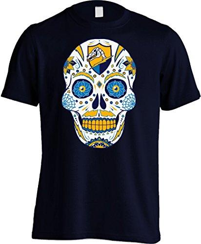 America's Finest Apparel Los Angeles LAC Sugar Skull Shirt - Men's (XL, Navy)