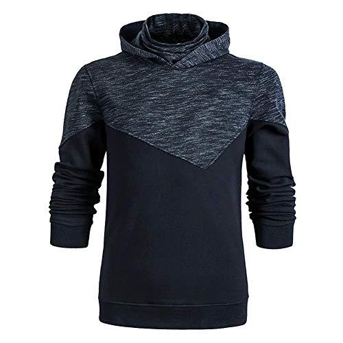 Heren hoodie met lange mouwen voor heren sweatshirt hoody zwart trui met capuchon lange mouwen voor dagelijks dragen in de open lucht