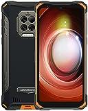 Movil Resistente, DOOGEE S86 Pro [2021] 8GB +128GB Movil con Termómetro Infrarrojo, 8500mAh Batería, IP68 IP69K 4G Smartphone Impermeable, Helio P60, Triple Cámara de 16 MP, 6.1inch, NFC, Naranja