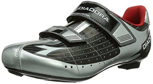 Diadora PHANTOM - Calzado de ciclismo unisex, color Silber (schwarz/silber DD/weiß 7720), talla 42