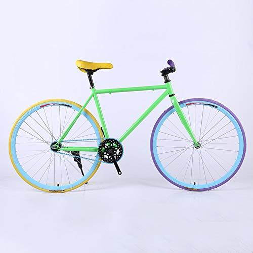 Light - fixed gear fiets, Single Speed Fixie Fiets, High Carbon Steel frame en vork, Wielen 24/26 Inch, voor mannen en vrouwen, studenten