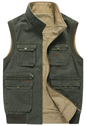 chouyatou-Mens-Outdoor-Sports-Zip-Reversible-Multi-Pocket-Fish-Work-Travel-Vest-Jacket