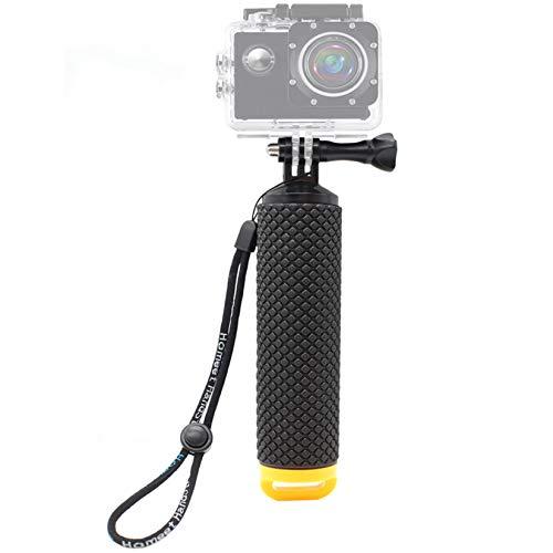Homeet Bastone Galleggiante Impugnatura Impermeabile Handle per Action Cam SJCAM  DBPOWER  YI 4K  QUMOX  Rollei  ApemanGiallo