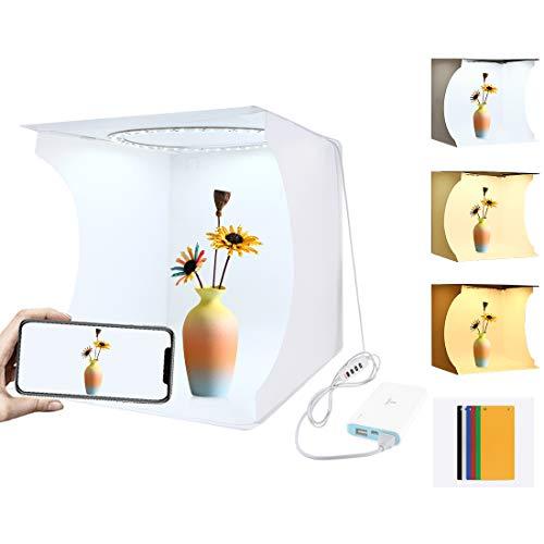 Alan Caja de Luz Fotografía con Luz Estudio Fotográfico Portátil Photo Studio Light Box, 31 x 31 x 32cm