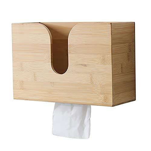 Jodsen Dispenser di tovaglioli di Carta di bambù,Porta Asciugamani di Carta Multifunzione per Montaggio a Parete,Dispenser di Asciugamani per Bagno Cucina Soggiorno Casa Camera da Letto