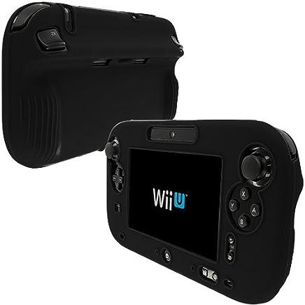 Générique Funda Integral de Goma de Silicona para Controlador Nintendo Wii U, Color Negro