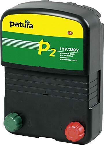 Patura Weidezaungerät P 2-12 Volt/230 Volt - für Pferde, Rinder, Teichschutz - inkl. 230 Volt Netzteil und Akkuanschlusskabel - mit Tiefentladeschutz