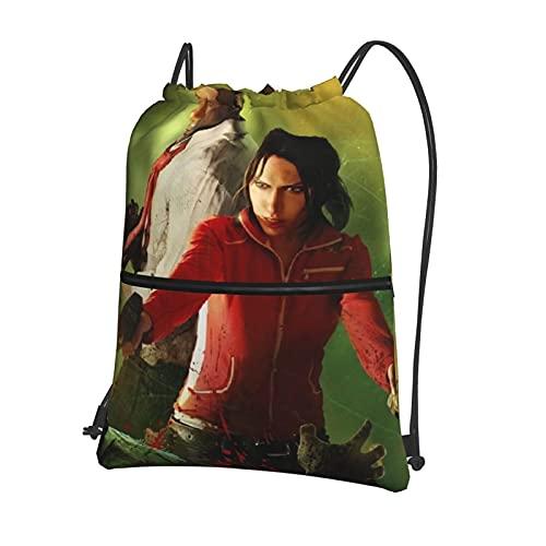 Le-Ft De-Ad - Bolsa de gimnasio con cordón, mochila deportiva grande, con cordón, para mujeres, hombres, niños, viajes, playa, escuela, bolsa impermeable con cremallera