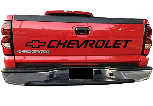 FASHIONMZ Chevy Silverado Tailgate Decal Chevrolet Bed Sticker Tail 454 3500 Vinyl Graphics SS 1500 2500