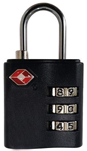 VAUDE Schloss TSA Combination Lock, silver/black, One Size, 125560380