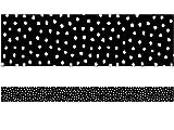 White Painted Dots on Black Straight Border Trim