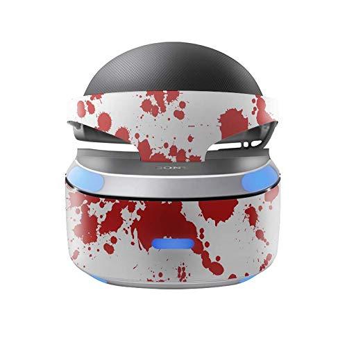 Skins4u Aufkleber Design Schutzfolie Vinyl Skin kompatibel mit Sony PS4 Playstation 4 VR Brille Blood