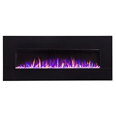 """Touchstone 80035 50"""" Black, Electric Fireplace with Bluetooth Speaker - AudioFlare"""