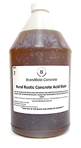 BrandBold Brilliance Concrete Acid Stain - Rural Rustic (Medium Brown) - 1 Gallon - Step 2