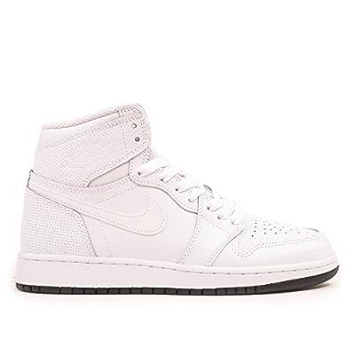 Jordan Air 1 Retro High OG Perforated Men Lifestyle Sneakers New White - 12.5