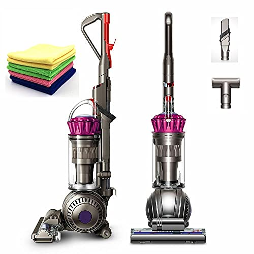 Flagship Dyson Ball Multi Floor Upright Vacuum: Bagless, Corded, Whole-Machine HEPA Filtration, Strongest Suction for Carpet and Hard Floor, Washable Filter, Fuchsia +One Maxitek Microfiber Cloth
