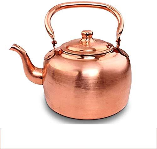 Hwhwxs Große Kapazität 5 L Wasserkocher Kupfer Topf Gas Wasserkocher Spitze Und Suppentopf Flachen Boden Kessel Teekessel