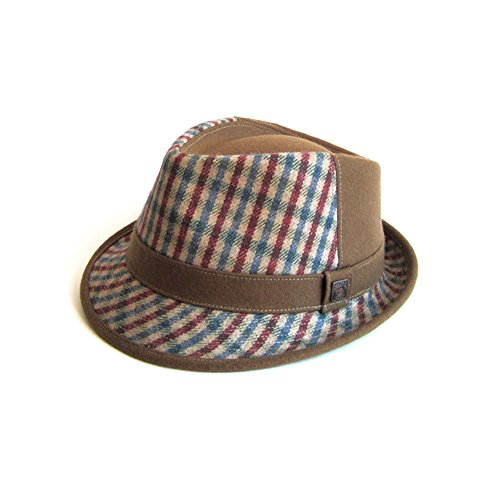DASMARCA Jeffrey Camel Tweed Cappello di Lana Invernale - S
