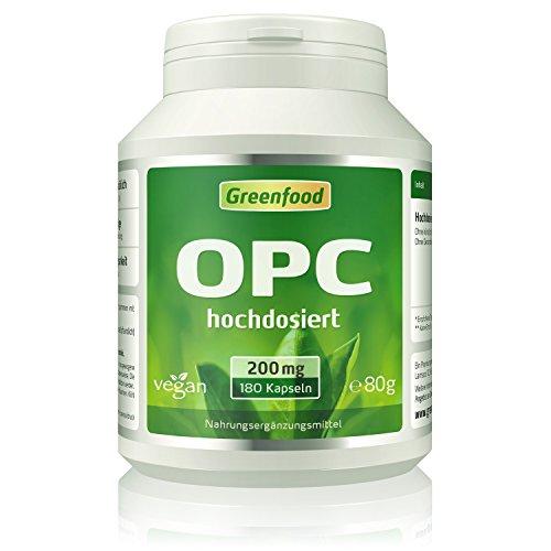 Greenfood OPC, 200mg reines OPC, plus Citrus Bioflavonoide, 180 Kapseln