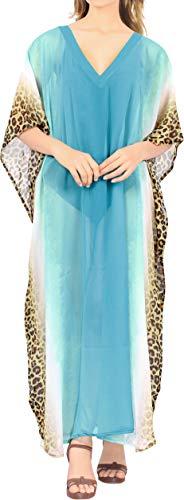 Happy BAY Kaftan tuniek voor dames, 3D HD, gedrukt kimono, vrije maat, lange maxi-feestjurk voor loungewear vakantie nachtkleding strand elke dag jurken