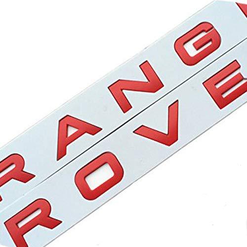 RNR Chrome Range Rover Rojo Mate Vogue Sport Evoque Letras letras nuevo + plantilla