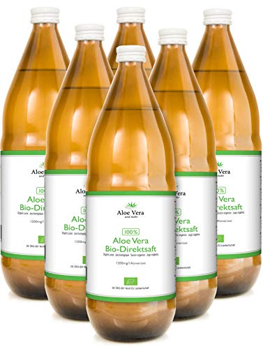 Bio Aloe Vera Saft - 100% Direktsaft, 6 x 1000ml