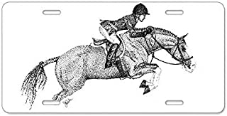 "SENMIYX Hunter Jumper Pony – Aluminum License Plate 6"" x 12"", Front.."
