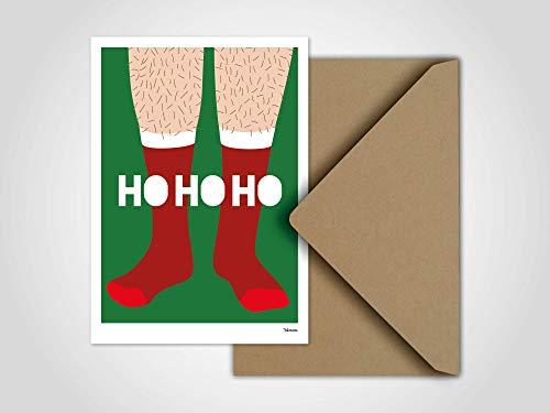 Nikolaus Socken — Weihnachtskarte, Grußkarten, Karten, Weihnachten, Schnee, Socken, kaltes Wetter, Winter, Familie, Weihnachtsgeschenk, Fuss