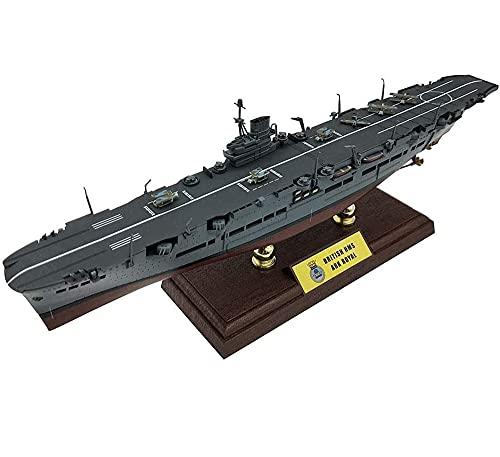 CMO Portaaviones Maqueta, Portaaviones HMS Ark Royal II RN Escala 1/700, Juguetes para Adultos, 13,6 x 2,4 Pulgadas