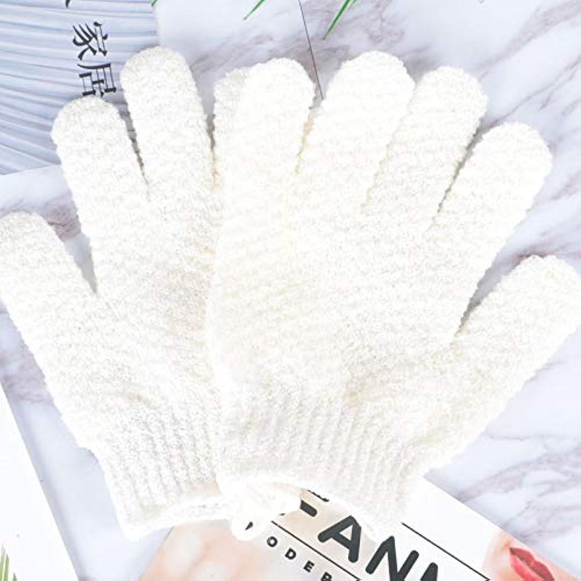 確率肝上に築きますBTXXYJP お風呂用手袋 あかすり シャワー手袋 ボディタオル ボディブラシ やわらか バス用品 角質除去 (Color : GREEN-B)