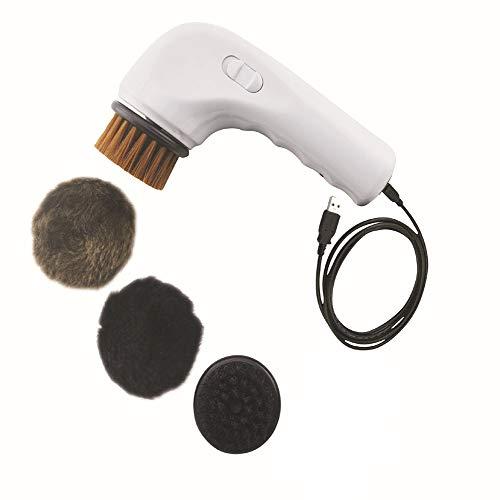 Drxiu Multifuncional portátil USB de Carga Zapato eléctrico Zapatos de Cuero Cepillo/Bolso de Cuero Cepillo/sofá de Cuero Cepillo/Asiento de Coche Cushion...