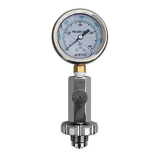 HomeDecTime Herramienta de Prueba de Comprobador de Manómetro de Tanque de Aire Calificado para Buzos de Buceo