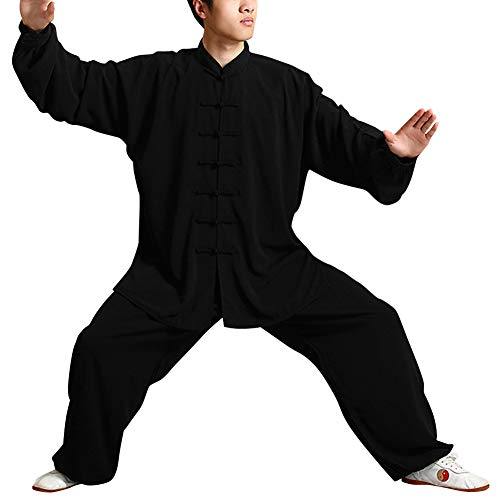Xinvivion Tang Costume pour Homme Chinois Traditionnel V/êtements Arts Martiaux Wing Chun Shaolin Qi Gong Kung Fu Uniforme