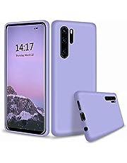 CRABOT Compatible con Huawei P30 Pro Silicona Líquida Caso Cubierta de Goma Anti-caída Resistente a Los Arañazos Carcasa del Teléfono+1*(Protector de Pantalla Gratuito)-Púrpura