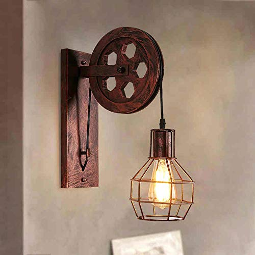 Scra AC Decoración País Lámpara De Pared Viento Industrial Retro Lámpara De Pared Lámpara De Pared De Hierro Forjado Creativo Lámpara De Pared Restaurante Corredor Pasillo Luces