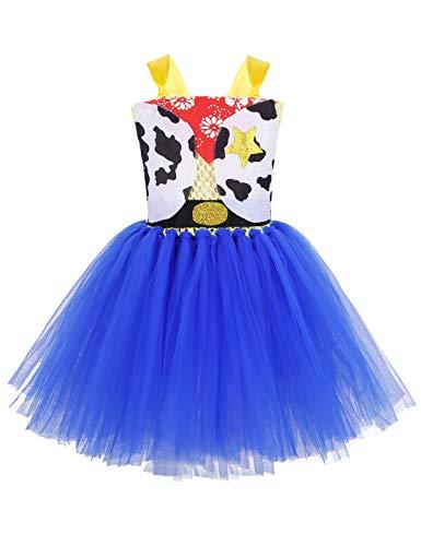 YiZYiF Disfraz Vaquero Cowgirl Niñas Vestido Tutú Princesa Jessiey Cosplay...