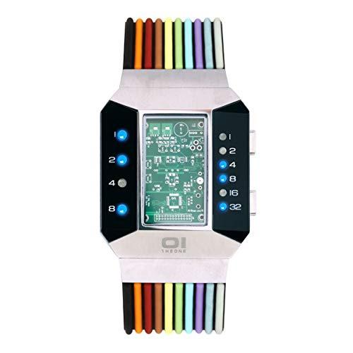 The One SC102B6 Split Screen - Reloj binario para hombre
