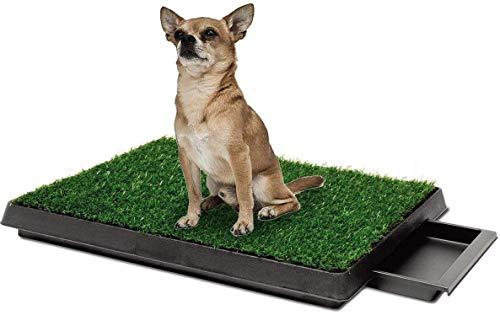 Bogeer Inodoro para Perros, Bandeja para Perros Inodoro con Césped Artificial, Orinal para Perros WC pip Perros(63 x 51cm)