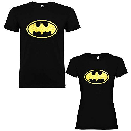 Pack de 2 Camisetas Negras para Parejas...