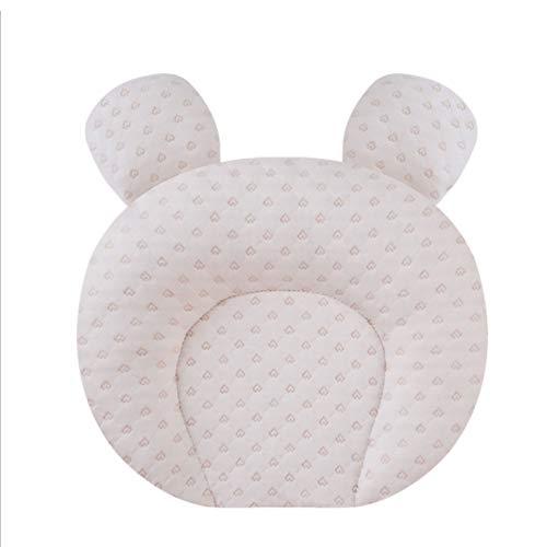 UUhome Almohada bebé recién Nacido Cabeza para Evitar y Corregir la plagiocefalia o Cabeza Plana en bebés recién Nacidos Almohada para Bebe Cojin y Funda Lavables,Heart Bear