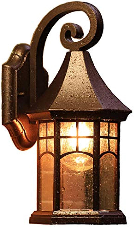 Wandleuchten Retro Auenwandleuchte Wasserdichte Auenbeleuchtung Italienische Gartenlampe Amerikanischer Balkon Treppen Flur Wandleuchte