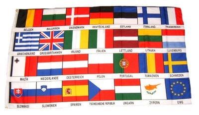 Fahne Flaggen EUROPA 27 LÄNDER 150x90cm