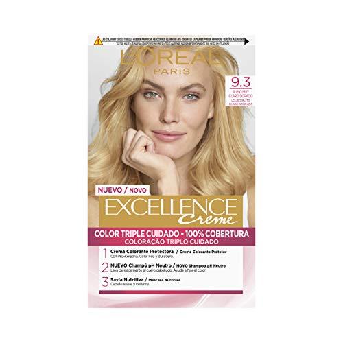 L'Oréal Paris Excellence Creme Tinte Tono 9.3 Rubio Claro Claro Dorado - 50 ml