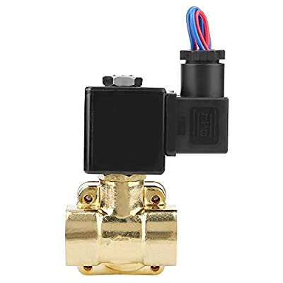 Electric Solenoid Valve, G3/8'' Port 2 Position 2 Way NC Electric Drain Solenoid Water Diaphragm Valve Direct Acting 0.07~1.6MPA for Water, Air (DC 12V) from Vikye