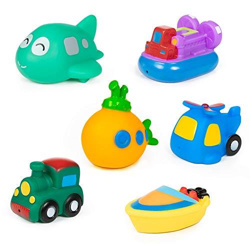 MOOKLIN ROAM 6 Stück Baby Boot Badespielzeug Set - Water Toy Badewannenspielzeug für Baby Kleinkinder ab 3 Monaten - Wasserspielzeugset für Badewanne, Pool und Schwimmbad (6 Stile)