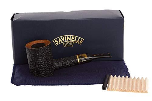 Savinelli Italian Tobacco Smoking Pipes, Oscar Rusticated 311