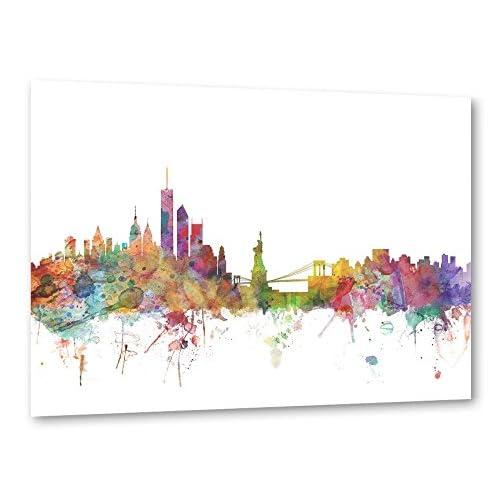 "artboxONE Poster 30x20 cm Aquarell Städte Städte / New York ""New York"" bunt hochwertiger Design Kunstdruck - Bild Aquarell Städte Städte / New York von Michael Tompsett"