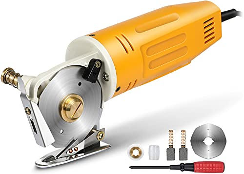 Mini Electric Rotary Cutter for Fabric,70MM Electric Rotary Fabric Cutter,Electric Rotary Cloth Cutter Cutting Machine, Octagonal Blade Electric Rotary Scissors for Multi Layer Leather Wool